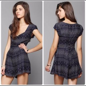 Urban Outfitters Kimchi Blue Ashley Lace Up Romper
